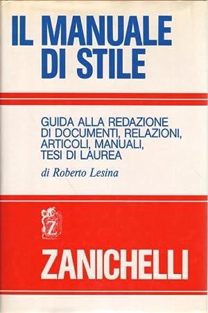Il manuale di stile Gida alla redazione: Roberto Lesina