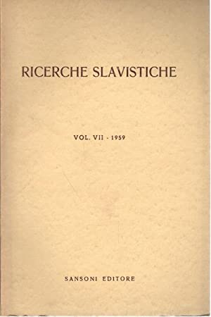 Ricerche slavistiche Vol. 7: AA.VV.