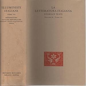 Illuministi italiani tomo VII Riformatori delle antiche: Giuseppe Giarrizzo, Gianfranco