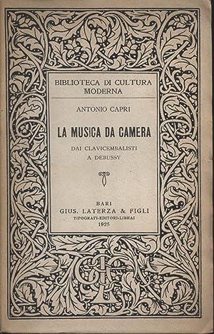 La musica da camera: Antonio Capri