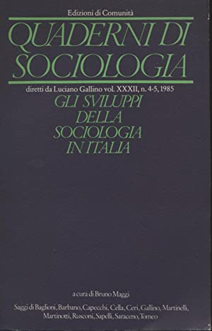 Quaderni di sociologia: Sommario del N. 4-5,: AA.VV.