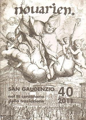 Novarien, Numero 40,2011 anno XLVI San Gaudenzio.: AA.VV.