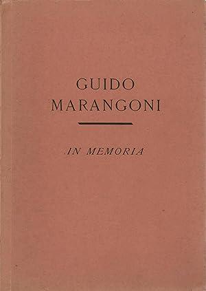 In memoria: Guido Marangoni