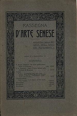 Rassegna d'arte Senese Anno II, Fasc. I: AA.VV.