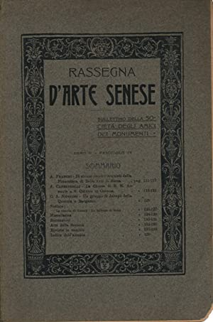 Rassegna d'arte Senese Anno II, Fasc. IV: AA.VV.