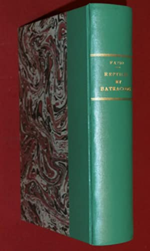Faune des vertébrés de la Suisse, volume: FATIO, Victor (Dr