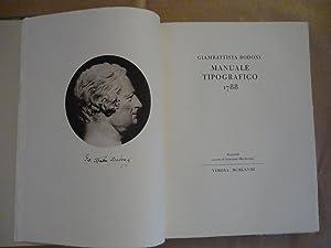 Manuale Tipografico 1788. Facsimile a cura di: Giambattista Bodoni
