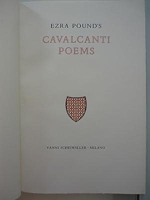 Ezra Pound' s Cavalcanti Poems.Verona,Mardersteig per Laughlin,Faber: Ezra Pound /