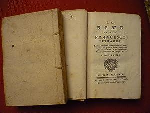 Le rime di Mess.Francesco Petrarca.Edizione riscontrata con: Petrarca,Francesco