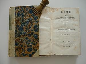 Rime di Francesco Petrarca colla interpretazione composta: Petrarca,Francesco / Leopardi,Giacomo