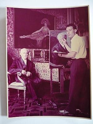 Il pittore Silvano Caselli ritrae il celebre: Toscanini,Arturo