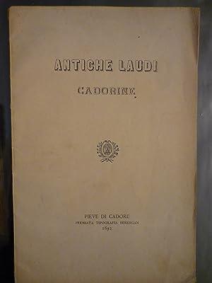 Antiche laudi cadorine: Carducci,Giosuè