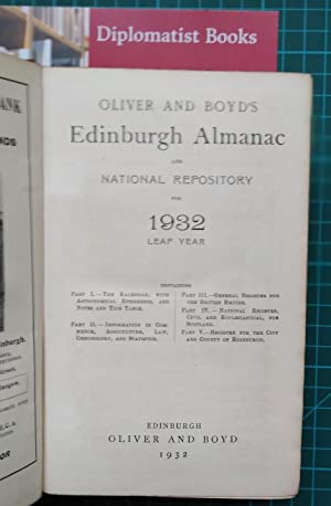 Oliver and Boyd's Edinburgh Almanac and National Repository for 1932 Leap Year