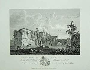 An Original Antique Engraving llustrating Thornbury Castle in Gloucestershire. Published in 1825