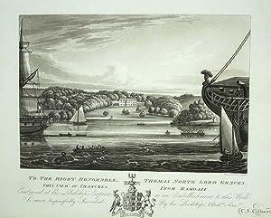 Original Antique Aquatint Engraved Print Illustrating Thanckes: An Original Antique
