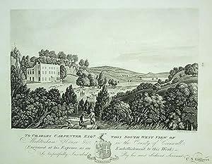 Original Antique Aquatint Engraved Print Illustrating Moditonham: An Original Antique