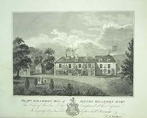 Original Antique Engraving Illustrating Skisdon Lodge in: An Original Antique