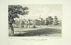 Original Antique Lithograph Illustrating Tynan Abbey, Co Armagh, The Seat of Sir James M. Stronge...