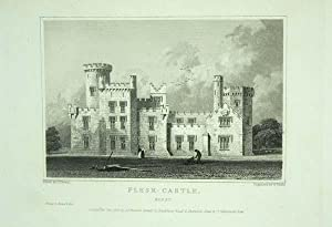 Original Antique Engraving Illustrating Flesk Castle in Kerry, The Seat of John Coltsmann, Esq.