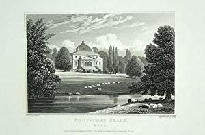 Original Antique Engraving Illustrating Foot's-Cray Place in Kent, The Seat of The Right Hon ...