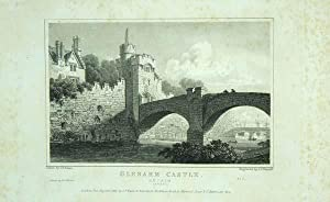 Original Antique Engraving Illustrating Glenarn Castle, Antrim, Ireland, The Seat of Edmund M'Don...