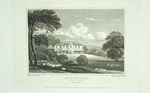 Original Antique Engraving Illustrating Gracefield-Lodge, Queen's County, The Seat of Mrs. Kavanagh.