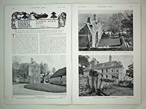 Original Issue of Country Life Magazine Dated November 14th 1931 with a Main Feature on Waddon Ma...