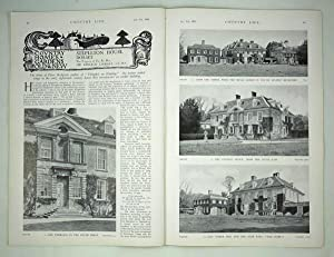 Original Issue of Country Life Magazine dated January 9th 1932 with a Main Article on Stepleton H...