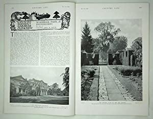 Original Issue of Country Life Magazine Dated February 7th 1925 with a Main Feature on Woodhall ...