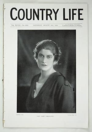 Original Issue of Country Life Magazine Dated Aug 21st 1920 with a Main Feature on Wilsley House, ...