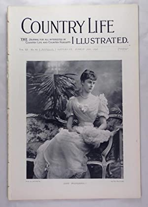 Original Issue of Country Life Magazine Dated March 26th 1898 with a Main Feature on Condover Hall ...