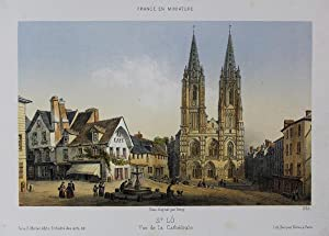 A fine Original Antique Hand Coloured Lithograph: Original Antique Colour