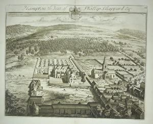 Original Engraved Antique Print Illustrating a Birdseye View of Hampton in Gloucestershire, The S...