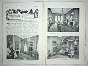 Original Issue of Country Life Magazine Dated: Original Early Issues