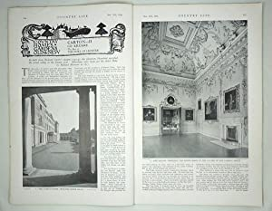 Original Issue of Country Life Magazine Dated November 14th 1936, with a Main Feature on Carton (...