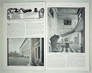 Original Issue of Country Life Magazine Dated August 22nd 1936, with a Main Feature on Castletown...