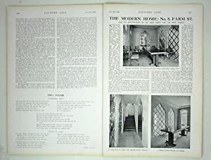 Original Issue of Country Life Magazine Dated October 19th 1929, with a Feature on No 8, Farm ...