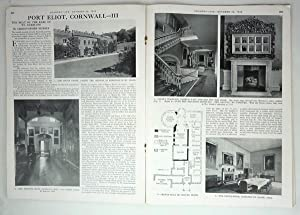 Original Issue of Country Life Magazine Dated October 29th 1948 with a Main Feature on Port Eliot ...