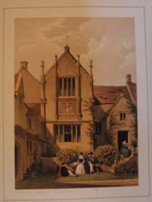 A Fine Original Hand Coloured Lithograph Illustration of Binghams Melcombe in Dorsetshire from Th...