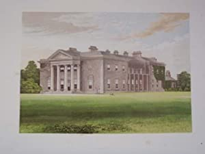 An Original Antique Woodblock Colour Print Illustrating Bishops Court in County Kildare, Ireland ...