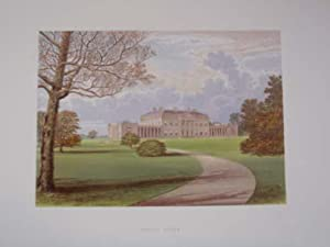An Original Antique Colour Print Illustrating Castle Coole, Fermanagh. Published Ca 1880.