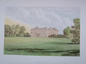 An Original Antique Colour Print Illustrating Farnham House, County Cavan. Published Ca 1880.