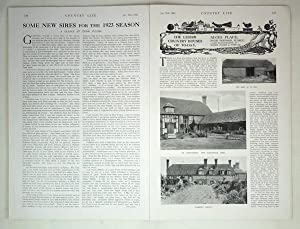 Original Issue of Country Life Magazine Dated January 27th 1923, with a Feature on Alces Place, ...