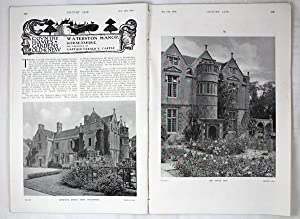 Original Issue of Country Life Magazine Dated February 12th 1916, with a Main Feature on Watersto...