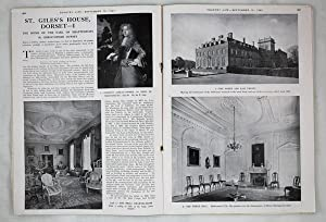 Original Issue of Country Life Magazine Dated September 10th 1943, with a Main Feature on St. Gil...