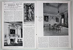 Original Issue of Country Life Magazine Dated September 17th 1943, with a Main Feature on St. Gil...