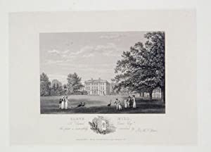 An Original Antique Engraving Illustrating Cleve Hill, The Seat of Daniel Cave, Esq in Gloucester...