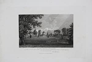 Antique Engraved Print Illustrating Arle House, Near Cheltenham, Published in 1826.