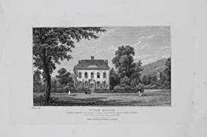 Antique Engraved Print Illustrating Field House, Prestbury, Near Cheltenham, Published in 1826.