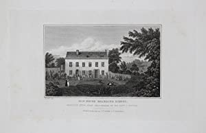 Antique Engraved Print Illustrating Ham House Boarding School, Charlton Kings, Near Cheltenham, P...